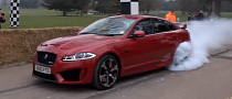 Jaguar XFR-S Super-Saloon Burns Tires on Goodwood Hill [Video]