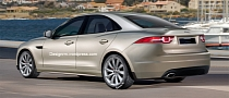 Jaguar XS Entry-Level Premium Sedan Rendered