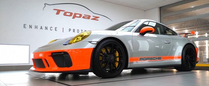 photo of Jamiroquai's Jay Kay Goes Vintage TopazSkin Transformation on Porsche GT3 image
