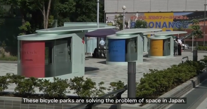 Japanese Bike Parking Systems Are Just like Volkswagen's Wolfsburg Towers [Video]