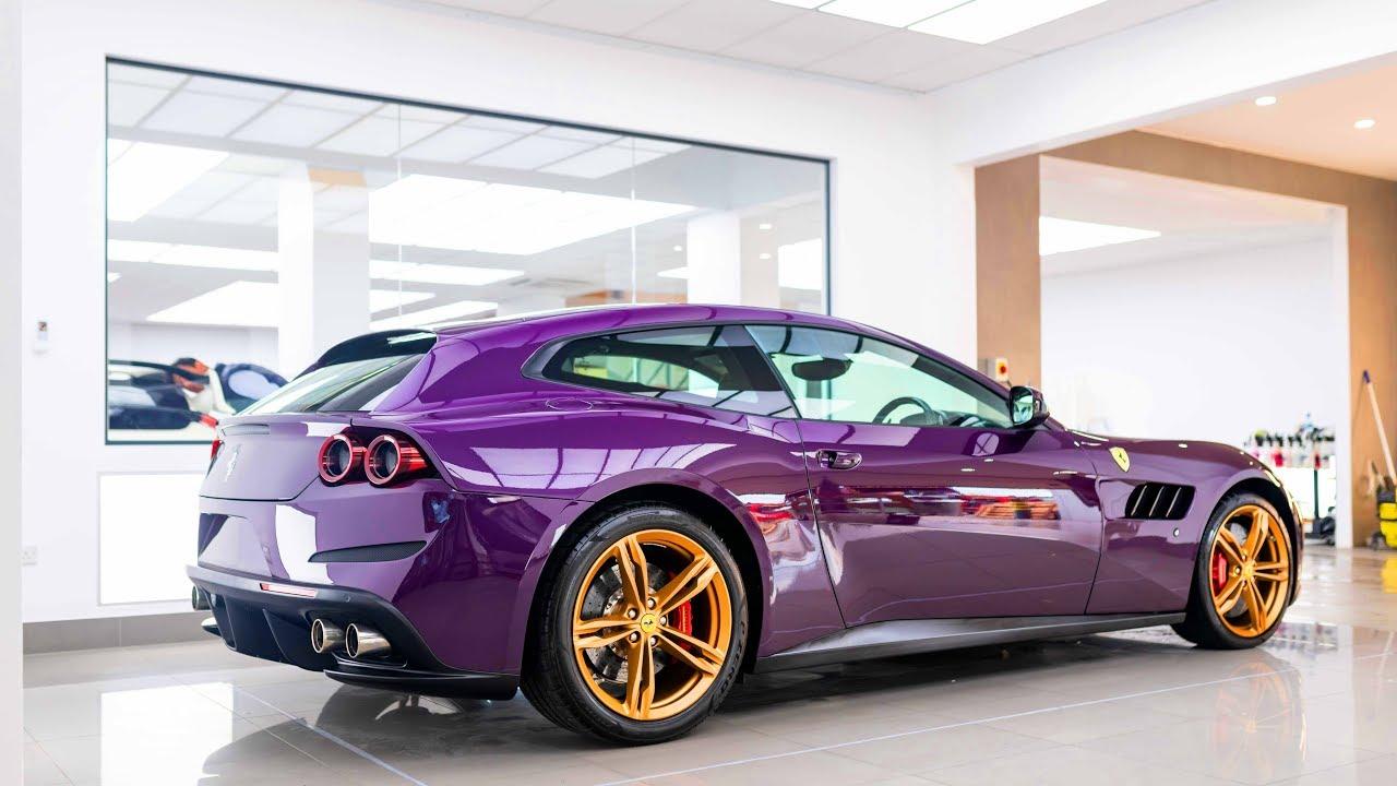 Jay Kay\u0027s Ferrari GTC4Lusso is Purple With Gold Wheels