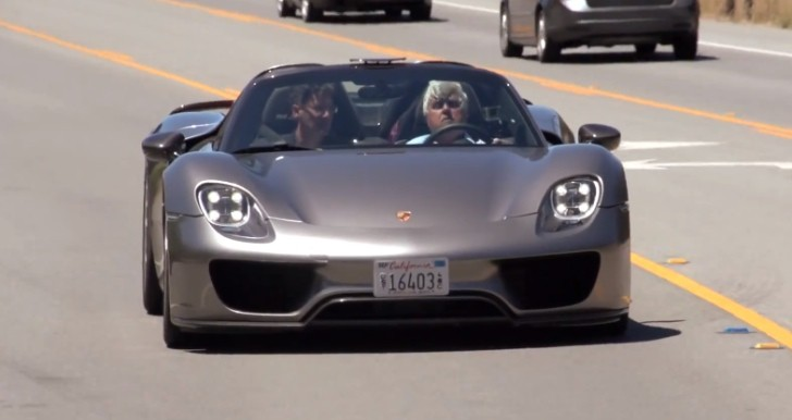 jay leno drives the porsche 918 spyder video autoevolution. Black Bedroom Furniture Sets. Home Design Ideas