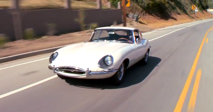 Jay Leno Drives Unrestored Jaguar E-Type Series I Coupe [Video]