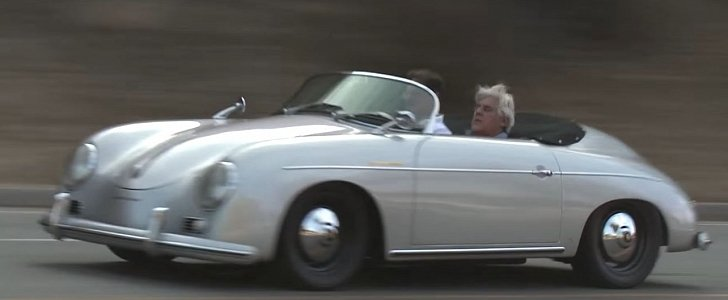jay leno hits the canyons in subaru engined 1957 porsche 356 speedster replica autoevolution. Black Bedroom Furniture Sets. Home Design Ideas