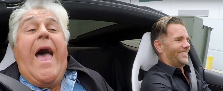Jay Leno Rides in 2020 Tesla Roadster, Gets Really Scared