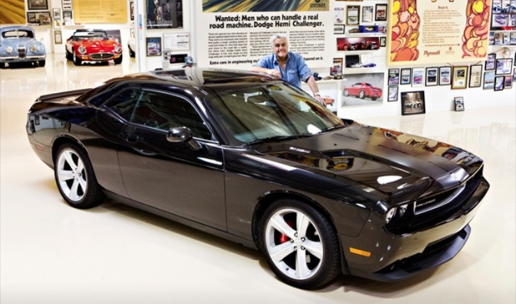 jay leno s 2008 dodge challenger srt8 to go on auction for