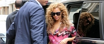 Jay-Z and Beyonce Spotted in Paris in a Range Rover