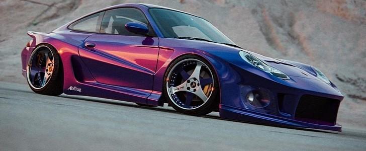 JDM-Style Porsche 996 Looks Strange With Abflug Supra Widebody Kit