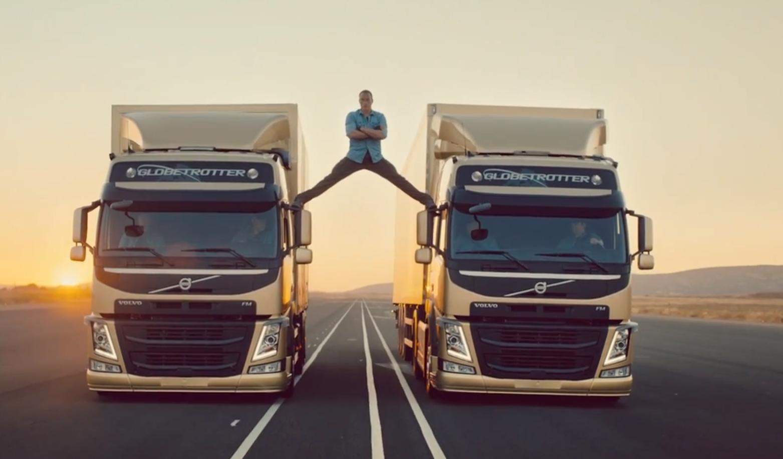 Jean-Claude Van Damme Does Epic Splits Between Reversing Trucks - autoevolution