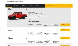 Jeep Configurator For 2020 Gladiator Pickup Truck Goes Live