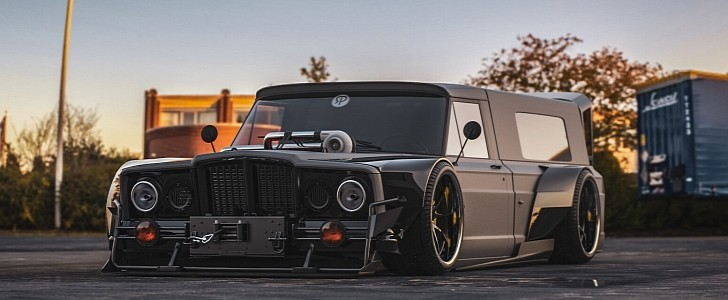 """Jeep Gladiator """"Quarter Pounder"""" Drift Truck Is Begging for a Hellcrate"""