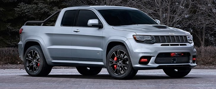 Jeep Grand Cherokee Trackhawk Pickup Rendered as the Truck ...