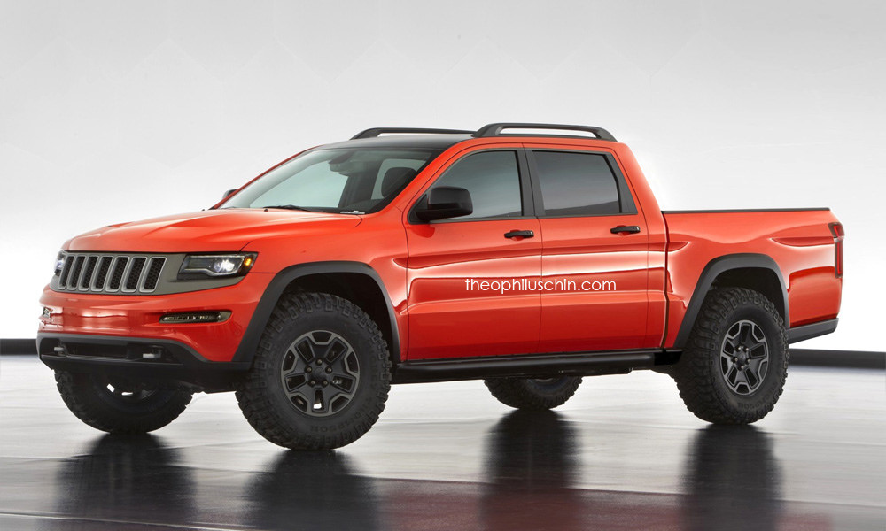 2016 Jeep Truck >> Jeep Pickup Truck Rendering Based On The Grand Cherokee