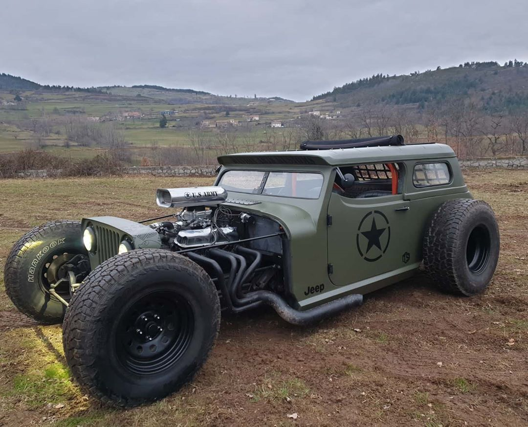 Jeep Rat Rod Looks Like A Rogue Soldier Has V8 Power Autoevolution