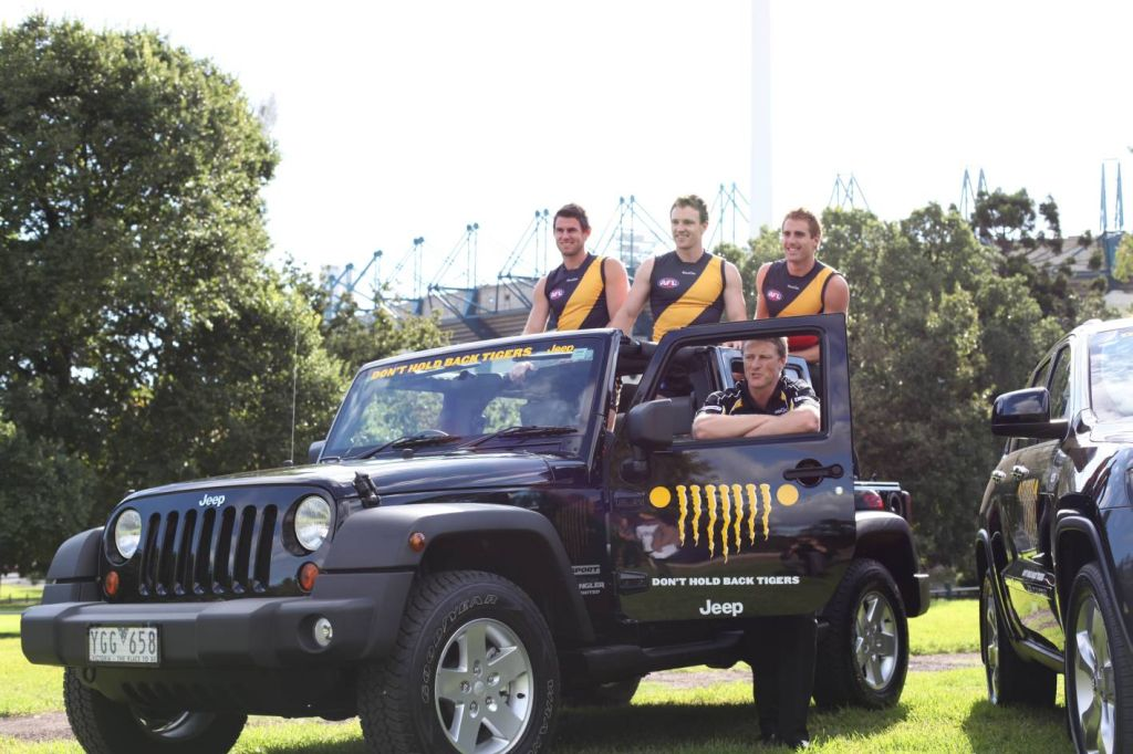Jeep Teams Up with Richmond Tigers Football Club - autoevolution