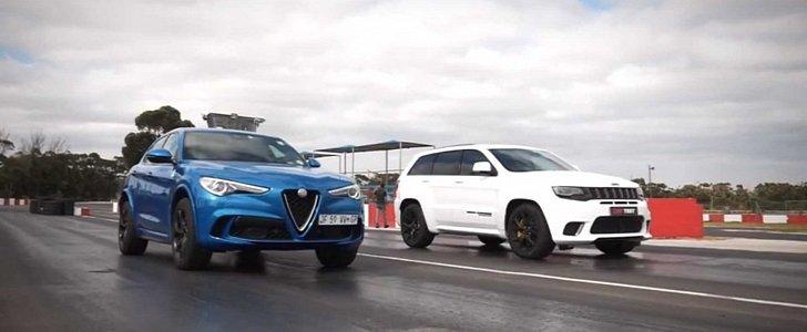 Jeep Trackhawk vs. Stelvio Quadrifoglio Drag Race Is Pure Sibling Rivalry - autoevolution