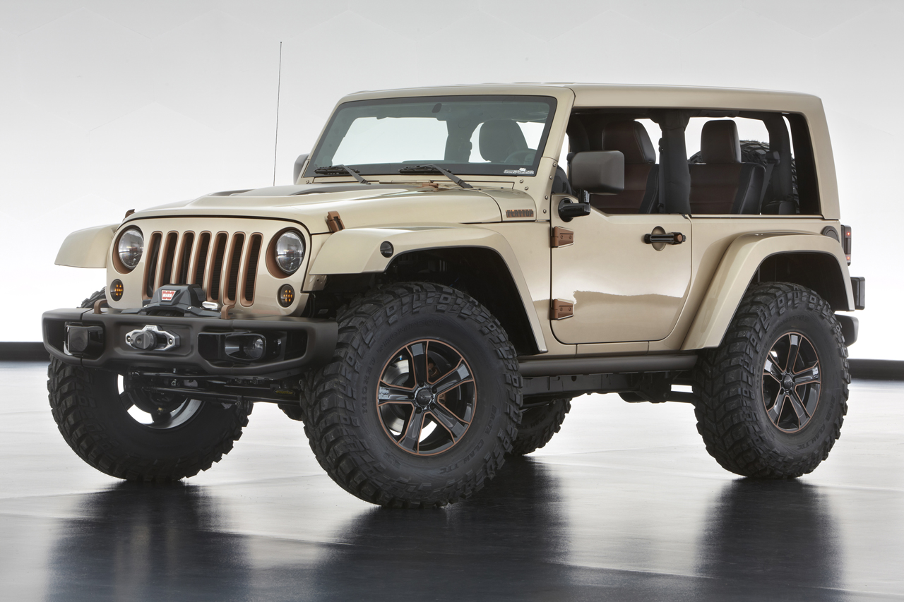 jeep unveils extreme wrangler concepts before moab. Black Bedroom Furniture Sets. Home Design Ideas