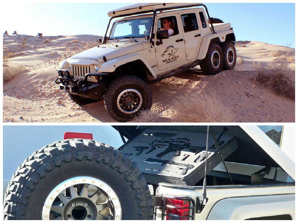 Jeep Wrangler Pickup Truck 2017 >> Jeep Wrangler 6x6 Pickup Truck has a Hemi V8 and... Guns ...