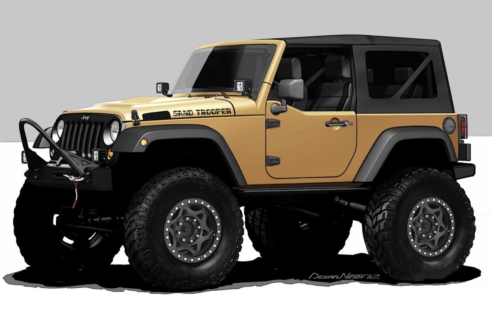 jeep wrangler sand trooper hemi 4x4 for 2012 sema autoevolution. Black Bedroom Furniture Sets. Home Design Ideas