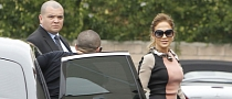 Jennifer Lopez Rides in a Rolls Royce Ghost