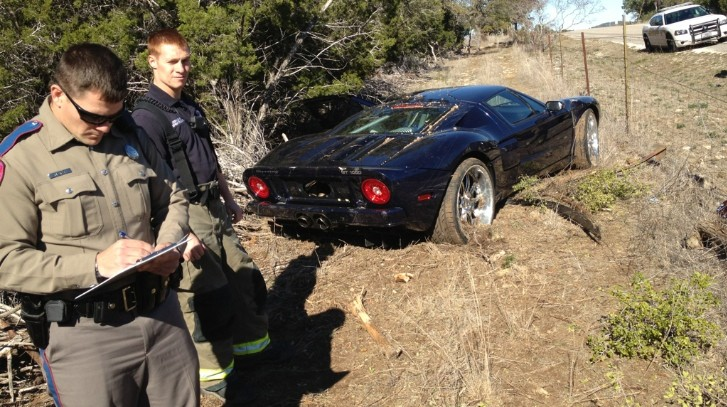 Jesse James' Ford GT Crashes in Texas