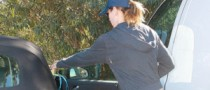 Jessica Biel Walks Her Dog in Audi TT