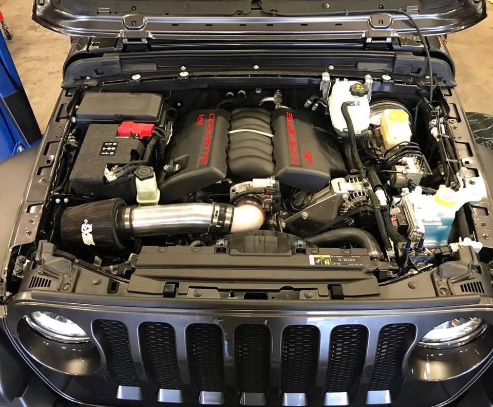 ... JL Wrangler LS3 V8 Swap