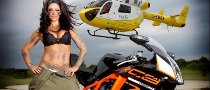 Jodie Marsh, Motorcycles and Helicopters in 2012 Calendar Photoshoot