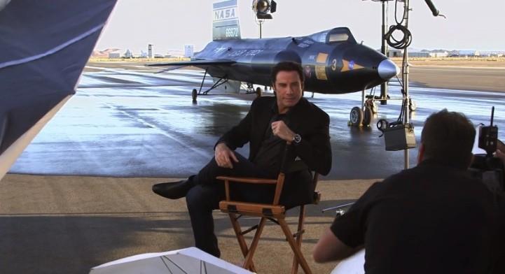 John travolta and north american x 15 star in new breitling ad autoevolution for John travolta breitling