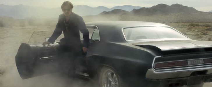 Johnny Depp Drives a Dodge Challenger in Dior Sauvage ...
