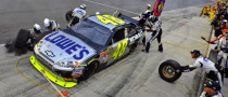 Johnson Pits to Win Auto Club 500