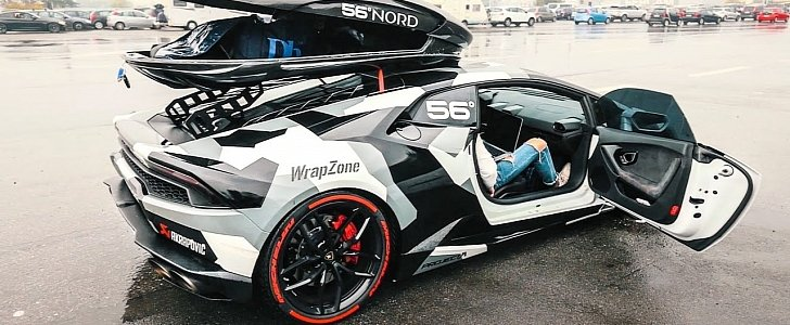 Jon Olsson S Quot Winter Project Quot Is An 800 Hp Huracan With A Ski Box Autoevolution