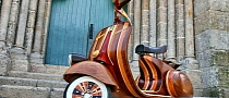 Just How Cool Is a Vespa Made Entirely of Wood? [Photo Gallery]