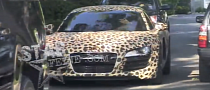 Justin Bieber Leaves Miley Cyrus' House in Leopard Audi R8 [Video]