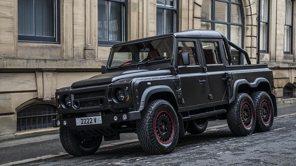 kahn reveals flying huntsman 6x6 defender double cab. Black Bedroom Furniture Sets. Home Design Ideas