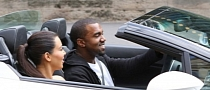 Kanye West and Kim Kardashian in Gallardo Spyder