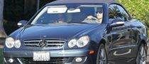 Katie Holmes Looks Cool in a Mercedes-Benz CLK