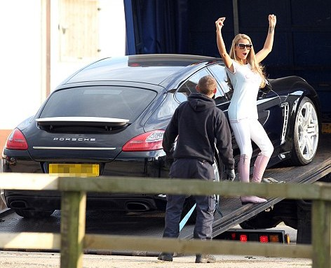 Katie Price Adds One Off Black Porsche Panamera To Her Car