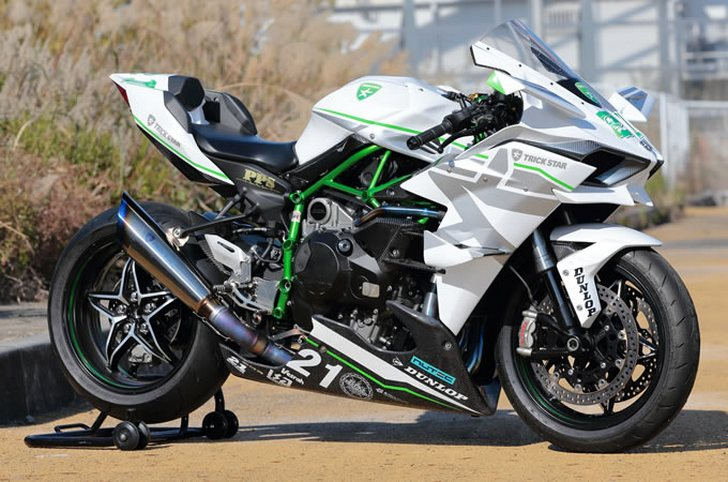 White  Kawasaki Ninja