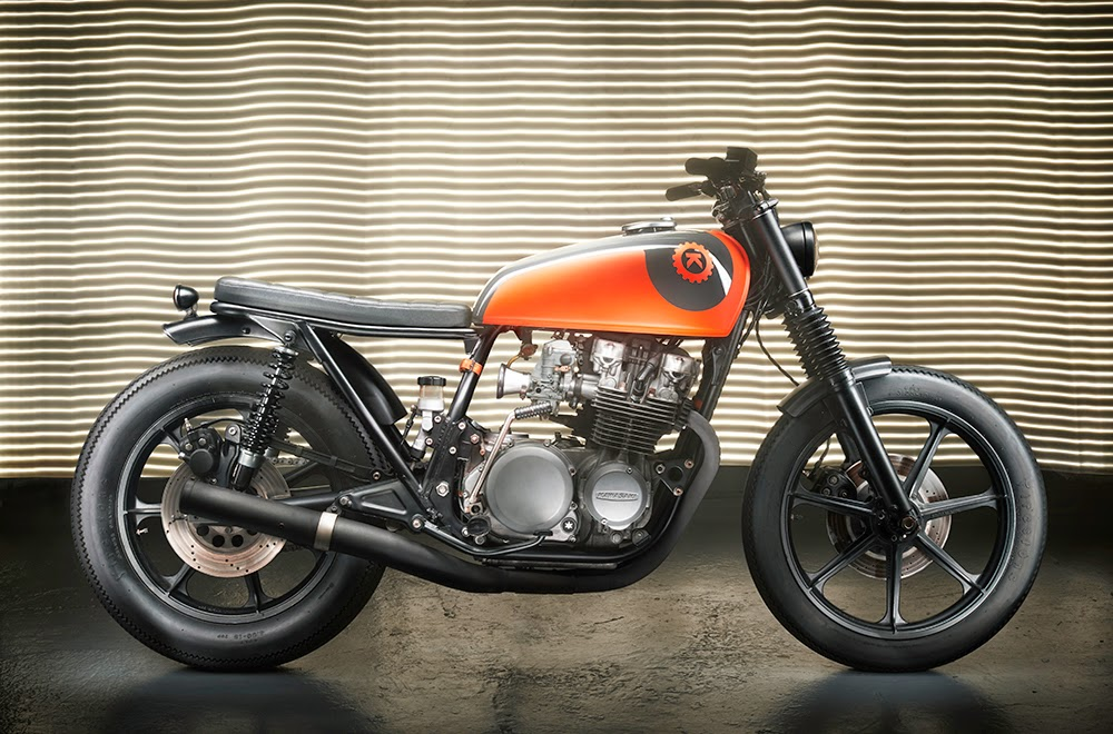 kawasaki z650 is looking fresh after a generous dose of