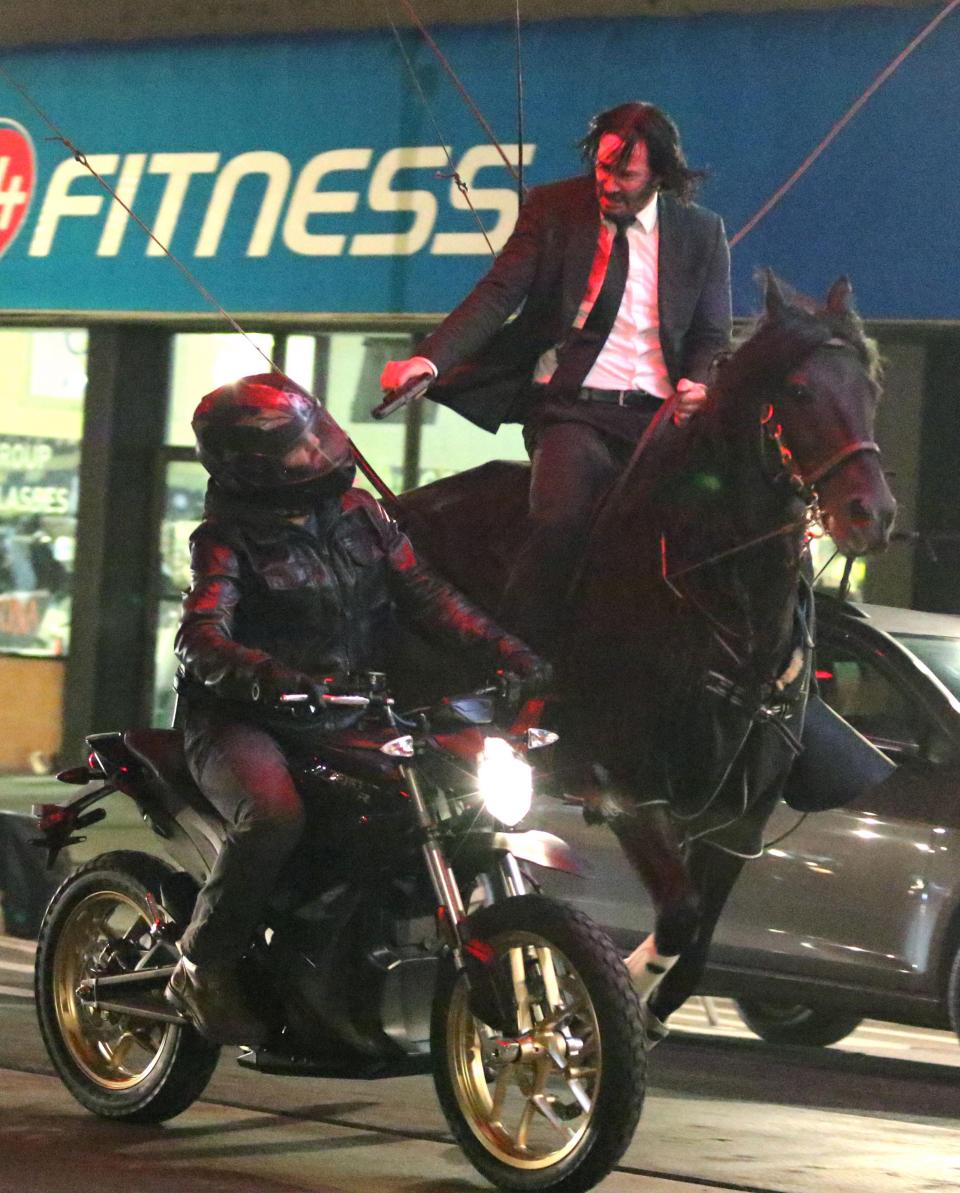 Image result for keanu reeves john wick horse