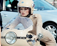 Knightley riding the Ducati 750 Super Sport