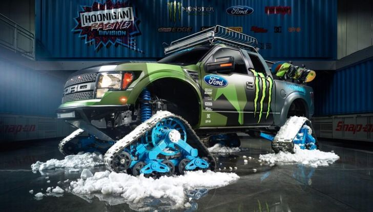 Ken Block's New Gymkhana Toy Is a Ford Raptor on Tracks ...