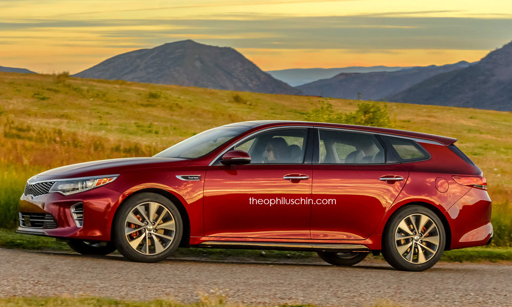 kia optima sw beautifully rendered likely coming in hybrid and phev flavors autoevolution. Black Bedroom Furniture Sets. Home Design Ideas