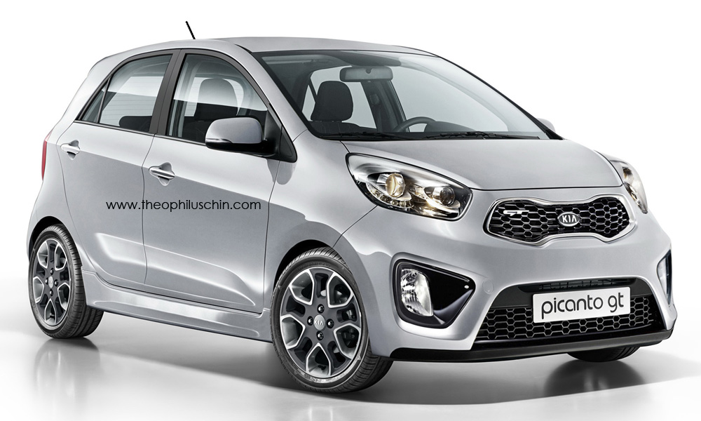 kia picanto gt hot hatchling rendered 500 abarth rival. Black Bedroom Furniture Sets. Home Design Ideas