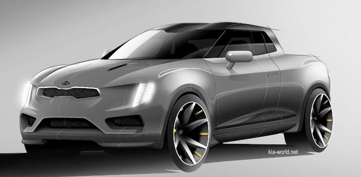 kia pickup truck rendering leaked autoevolution. Black Bedroom Furniture Sets. Home Design Ideas