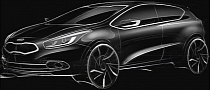 Kia pro cee'd Teaser Sketch Shows Sporty Side