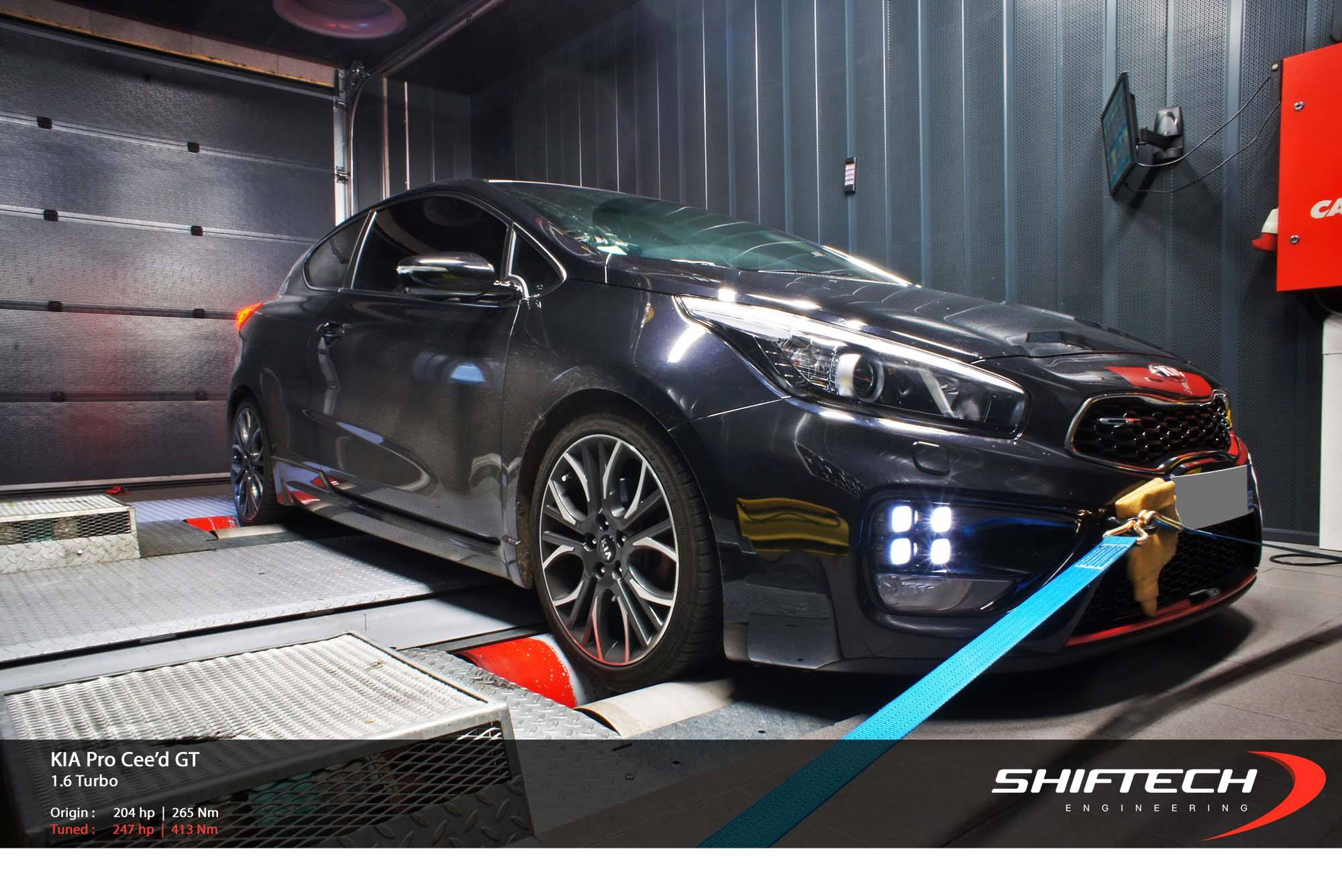 kia pro cee 39 d gt tuned to almost 250 hp by shiftech. Black Bedroom Furniture Sets. Home Design Ideas