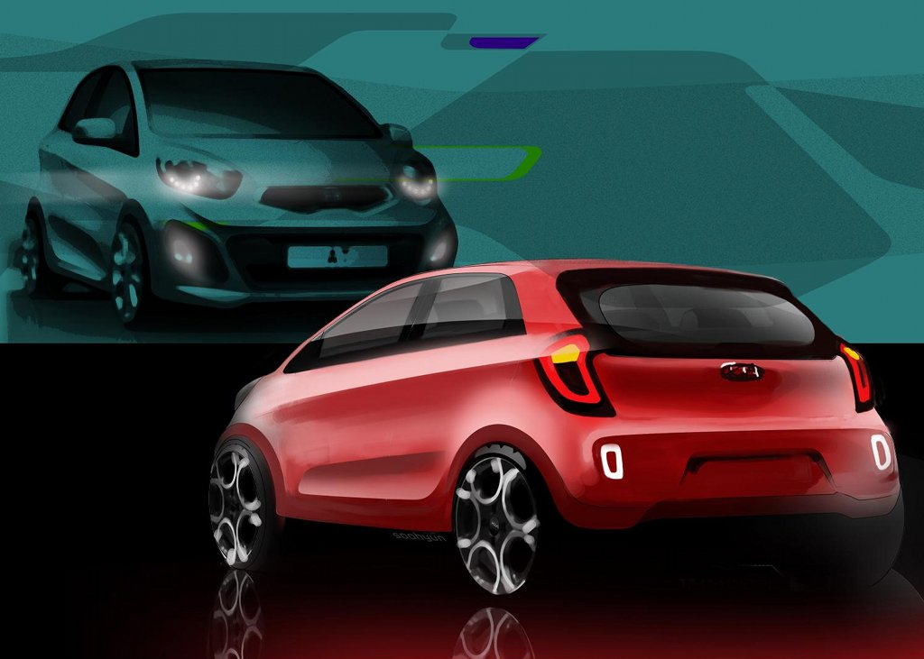 kia releases new picanto sketches   autoevolution