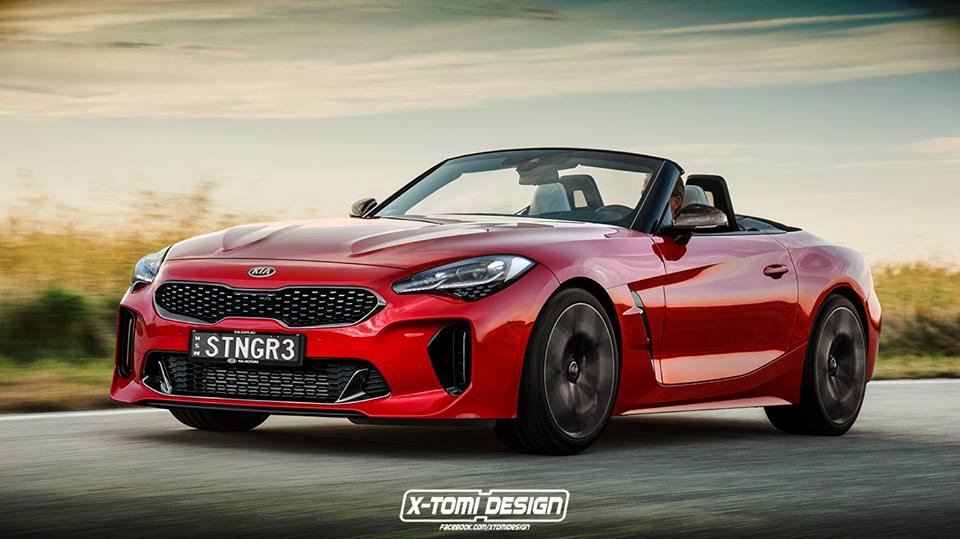 Kia Stinger Gt Cabriolet Is The Bmw Z4 Rival Nobody